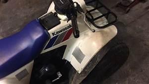 1988 Kawasaki Bayou 185 Klf185 Running For Sale Vid