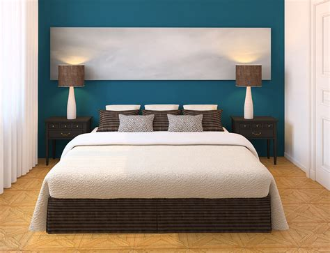 cool modern bedroom color schemes by blue white wall paint