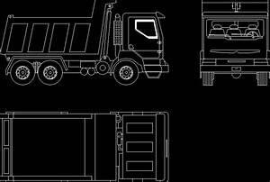 Dump Truck Dwg Block For Autocad  U2013 Designs Cad