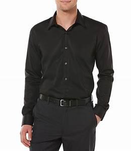 Perry Ellis Big Non Iron Long Sleeve Woven Shirt