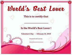 Best Boyfriend Award Certificate Template Www Pixshark