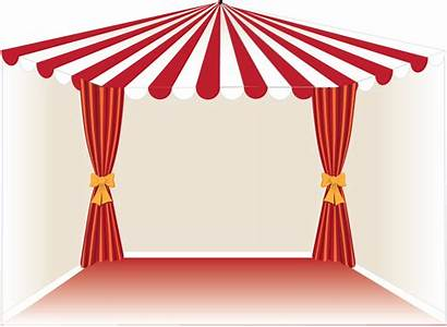 Circus Curtain Clipart Circo Tent Tenda Transparent