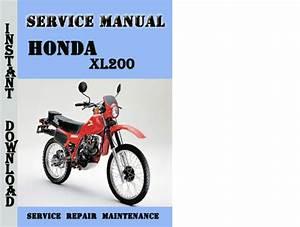Honda Xl200 Service Repair Manual Pdf Download