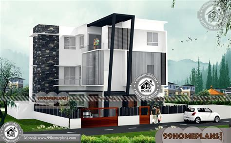 story apartment building plans  contemporary home plans kerala