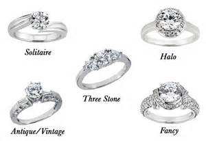 different styles of engagement rings how to buy an engagement ring 4 cs