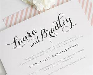 romantic blush wedding invitations wedding invitations With writing wedding invitations in calligraphy