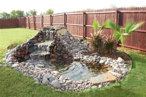 Backyard Garden House Design With Diy Small Stone Ponds