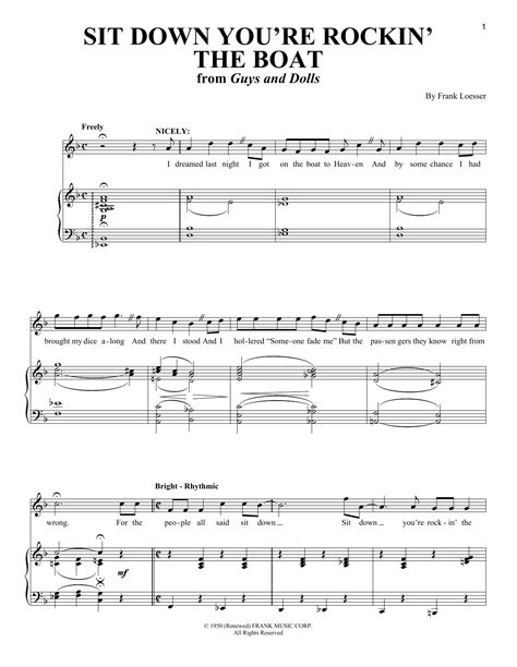 Rockin The Boat Lyrics by Sit Down You Re Rockin The Boat Sheet Music Direct
