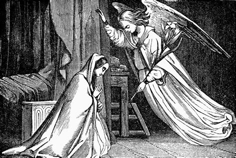 annunciation gabriel appears  mary clipart