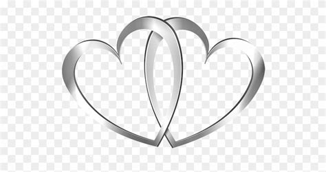 real heart silver ring wedding heart clipart the cliparts