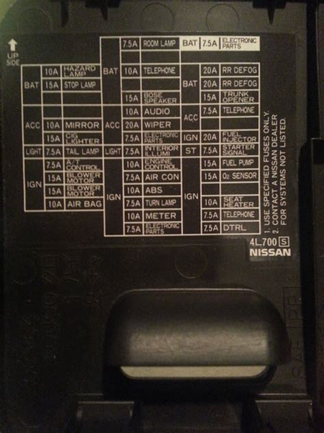 97 Sentra Fuse Box by Need Photo Of Fuse Box Diagram For 99 Maxima Forums
