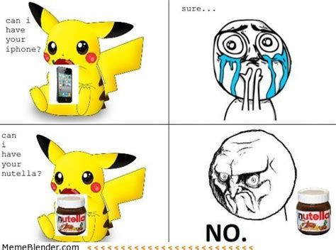 Cute No Meme - no face meme pikachu nutella humor that i love pinterest nutella pikachu and meme