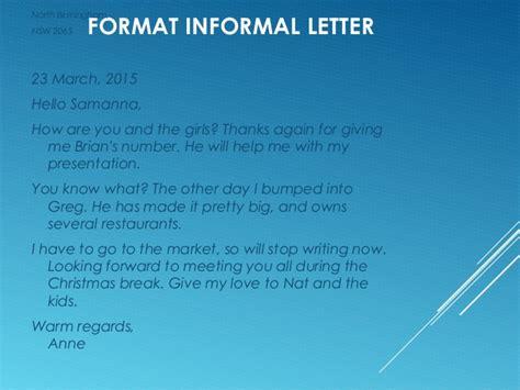 informal letter  van eijk