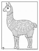 Coloring Animals Adult Pages Animal Easy Adults Llama Teens Printables Activities sketch template