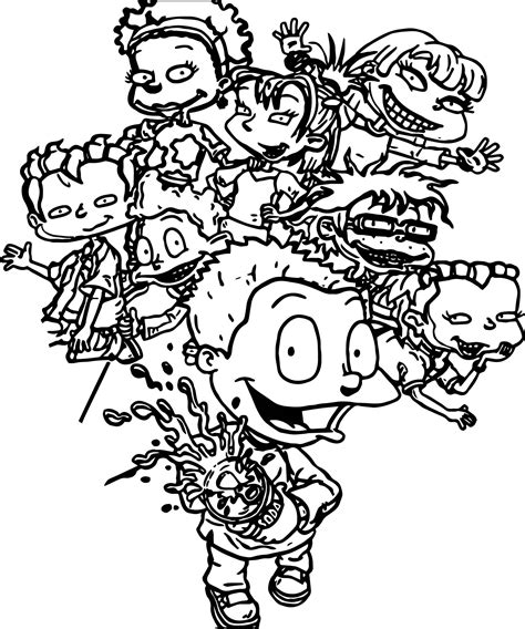grown up coloring pages rugrats all grown up all grown up soda coloring page