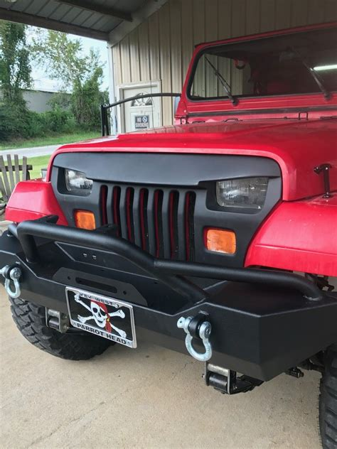 fits jeep wrangler yj overlay grille grill