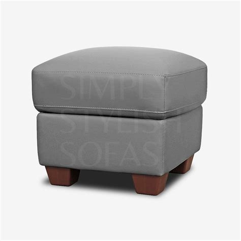 Ottomans And Footstools by 15 Photos Leather Footstools And Pouffes Sofa Ideas