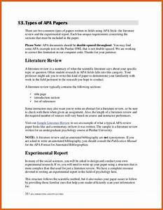 literature review template apa examples With lit review template