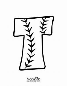 baseball alphabet letter t woo jr kids activities With baseball alphabet letters