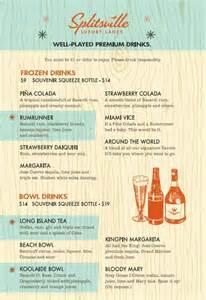 splitsville drink menu drinking disney