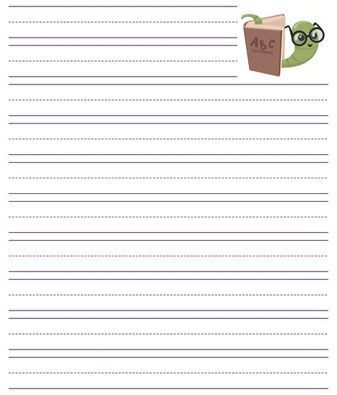 printable primary writing paper template printableecom