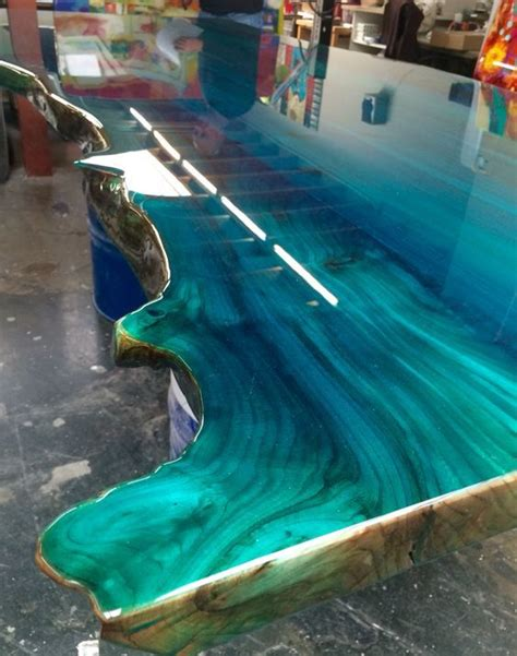 colour epoxy blue ocean designed  ccoatingnl wood