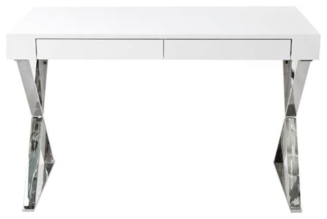 modern white desk with drawers frank 2 drawer desk white lacquer modern desks and