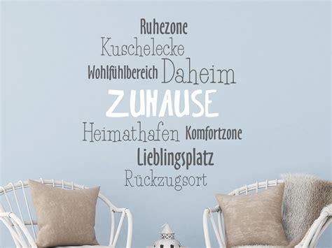 Steinofen Für Zuhause by Wandtattoo Zuhause Zweifarbig Wortwolke Wandtattoo De
