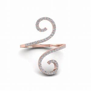 round cut diamond fashion rings in 14k rose gold With fashionable wedding rings