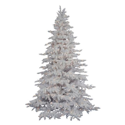 4 foot white christmas tree vickerman 4 ft 6 in 498 tip pre lit white spruce flocked artificial tree with 250