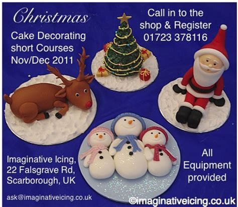 christmas cake decorating courses  register today