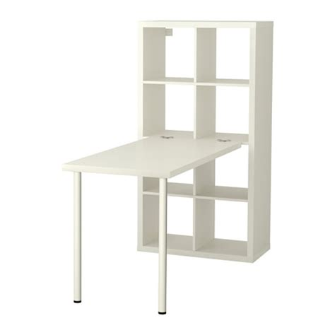 bureau etagere kallax desk combination white ikea