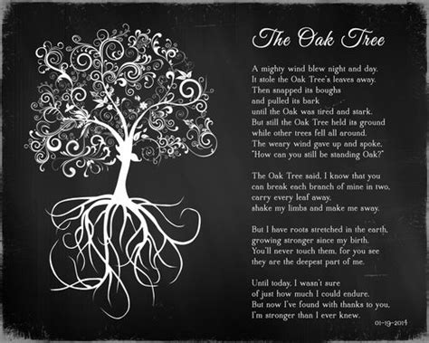 oak tree poem plaque tree poem tree quotes oak tree