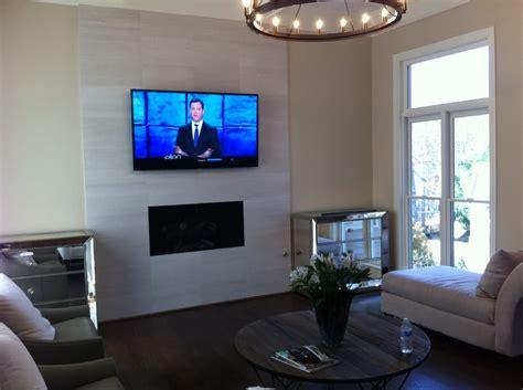 tv mounted   marble tile fireplace yelp