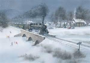 Railroad Christmas Train Cards