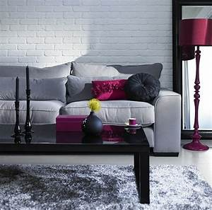 Mur Brique Blanc : un salon en gris et blanc c 39 est chic voil 82 photos qui en t moignent ~ Mglfilm.com Idées de Décoration