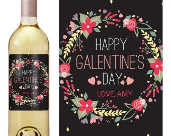 Wine labels for valentines day | Etsy | Happy galentines ...