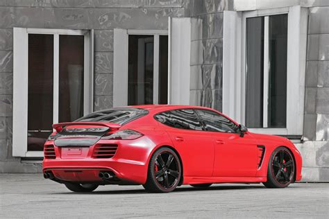 red porsche panamera tuning  anderson germany