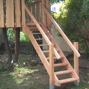 Treppe Bauen Garten : holztreppe selber bauen ~ Lizthompson.info Haus und Dekorationen