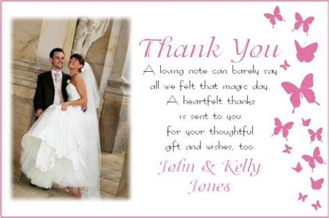 Personalized Printable Thank You Card Template For Wedding