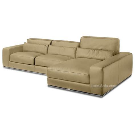 angle de canapé canapé d 39 angle de luxe en cuir de vachette matisse verysofa