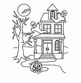 Haunted Coloring Pages Printable Halloween Dollhouse Colouring Bestcoloringpagesforkids Drawing Getcolorings Getdrawings Fresh Example Adult Draw Entitlementtrap sketch template