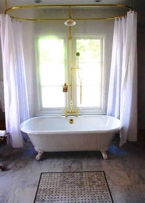 shower curtain rod  clawfoot bathtub decor ideas