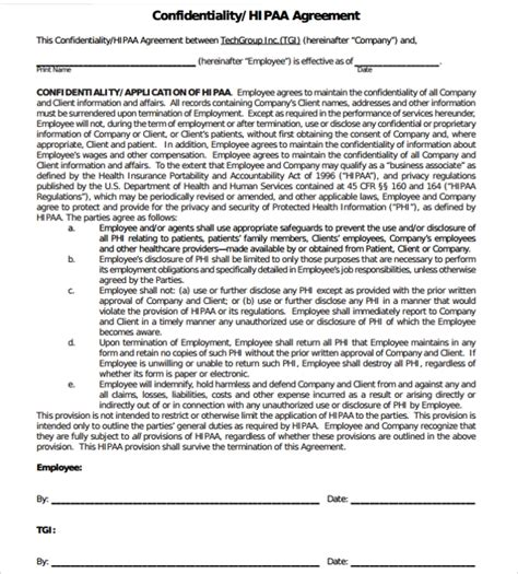 sample generic confidentiality agreement template