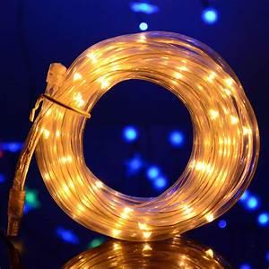 Lichterkette Solar Außen : 7m led solar lichterschlauch lichtschlauch mit 50 leds lichterkette au en xmas ebay ~ Whattoseeinmadrid.com Haus und Dekorationen