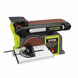 Ryobi 120 volt bench sander green bd4601g the home depot for Sander table home