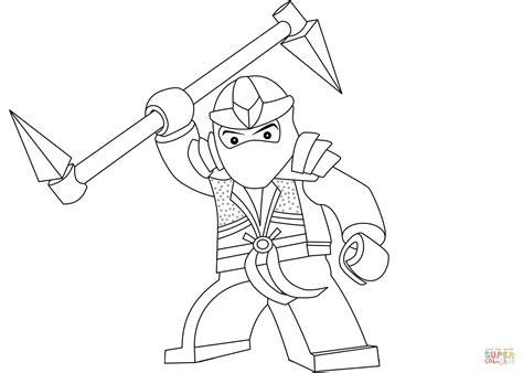 lego ninjago lloyd  green ninja coloring page