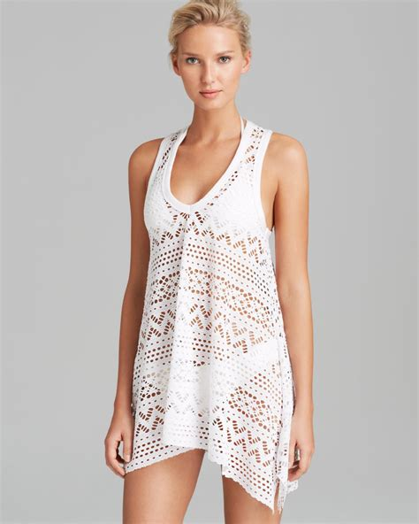Lyst Robin Piccone Penelope Crochet Dress Swim Cover Up