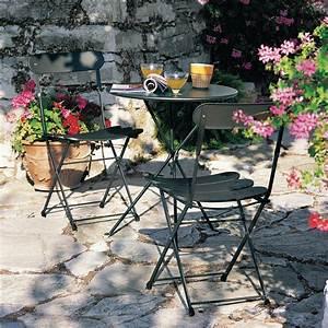 awesome table de jardin ronde en fer pliante gallery With table jardin metal ronde pliante 0 table pliante ronde cytadine 4 chaises metal table