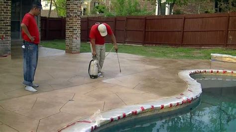 quot paint on paint quot how we resurface concrete in keller